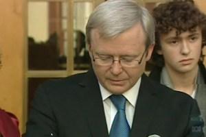 Kevin Rudd press conference