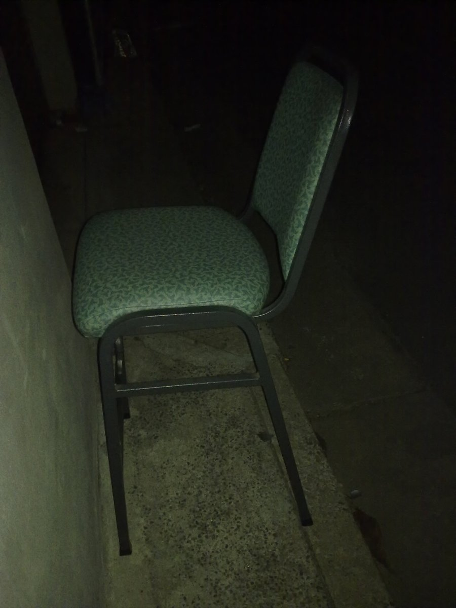 Discarded bar stool uncovered