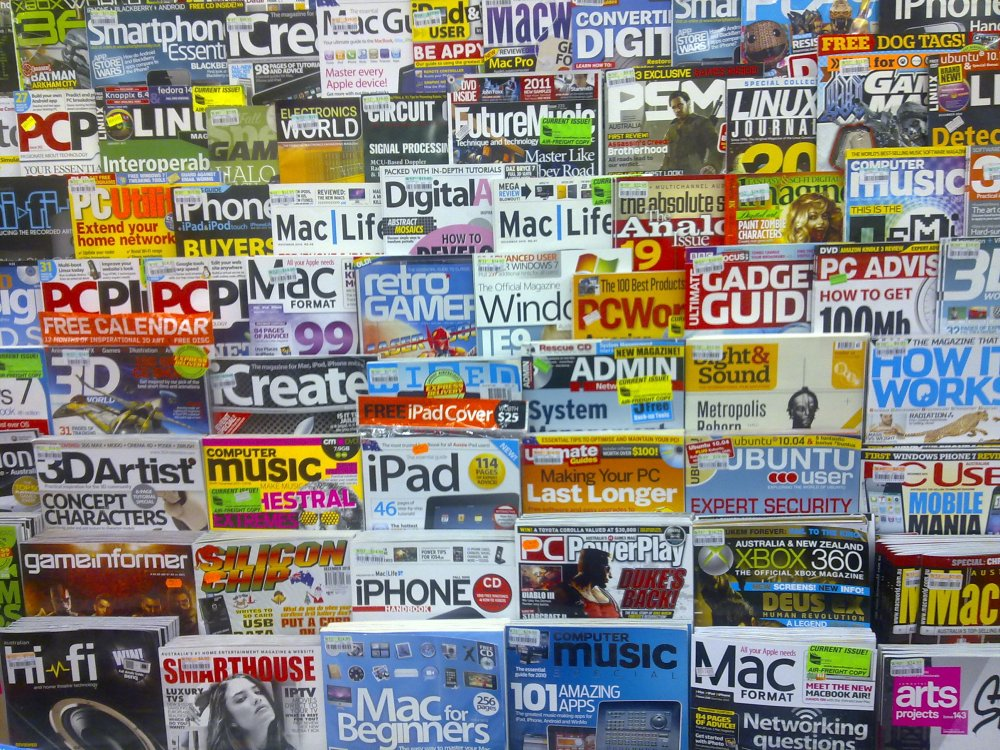 Taylor Square newsagency magazine rack
