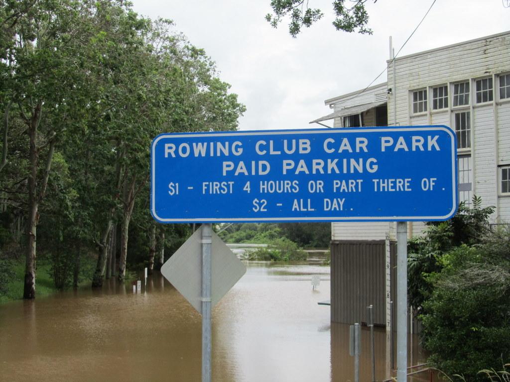 Car park at the Lismore Rowing Club