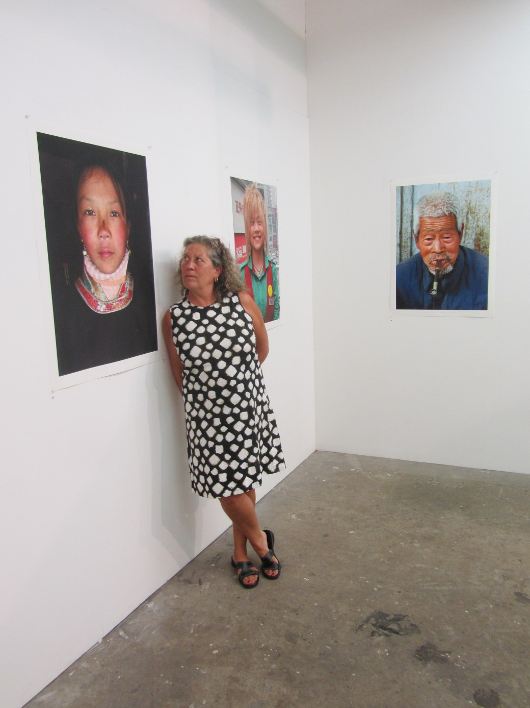 Kate and her photographs at Damien Minton Gallery