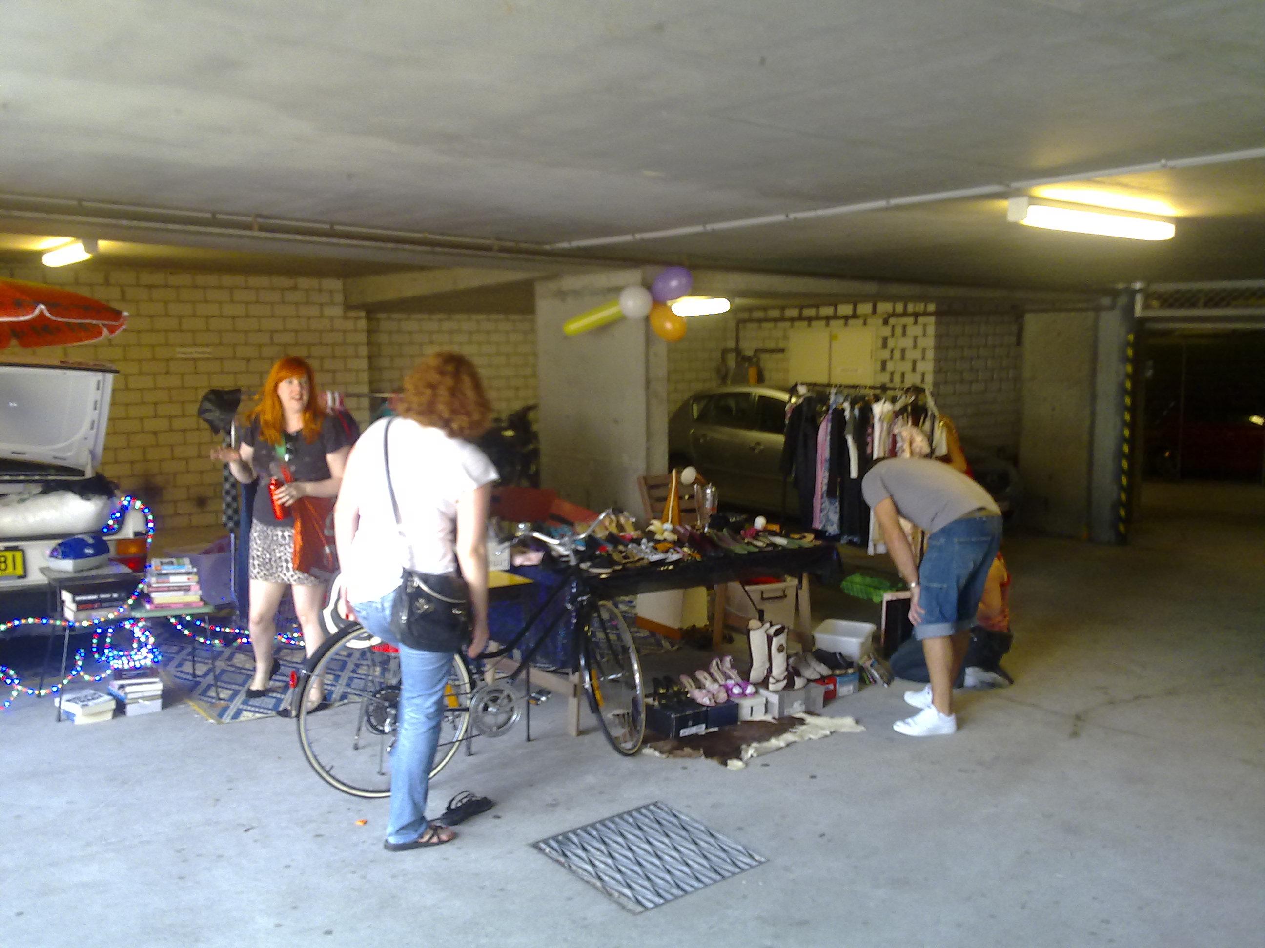 Downstairs garage sale
