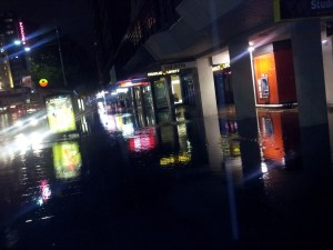 Footpath Flooding on George Street, Sydney