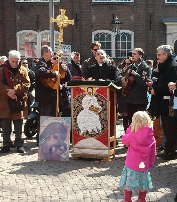 Outdoor Church Service in Amsterdam