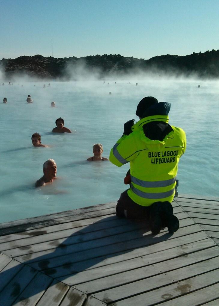 Lifeguards patrol The Blue Lagoon