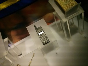Mobile phone in the Swedish Museum of National Antiquities