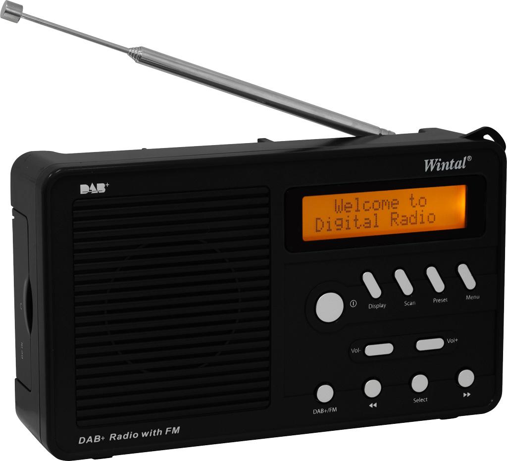 Retro-style digital radio