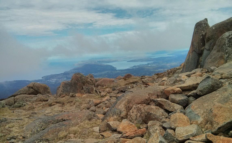 View from atop Mount Wellington, Hobart, Tasmania