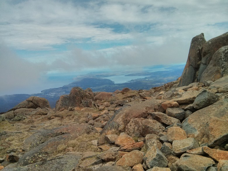 View from atop Mount Wellington, Hobart, Tasmania
