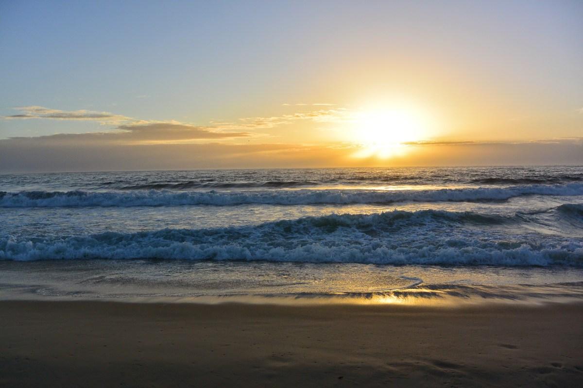Sunrise over Nobby's Beach, Newcastle