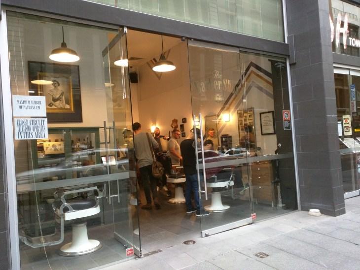 The Barber Shop on Sydney's York Street