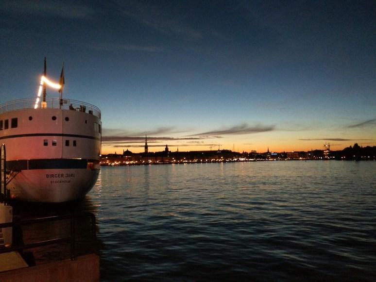 Stockholm sunset, as viewed from Fotografiska