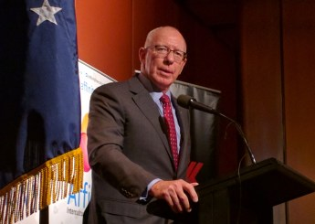 """Australia should be """"blended, not merely co-located"""" says NSW Governor, David Hurley."""