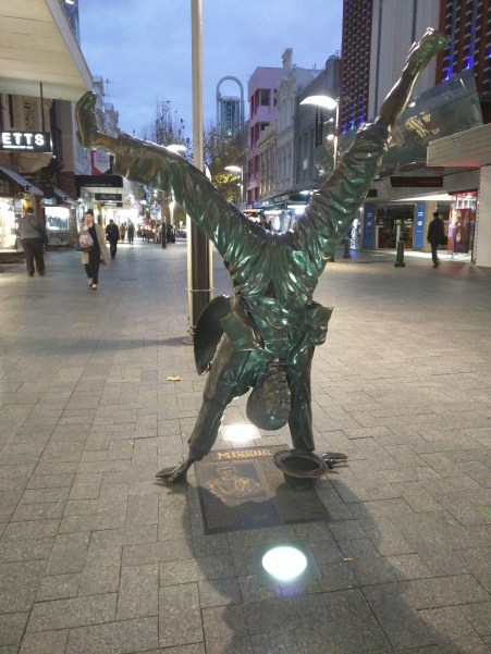 Mall statue in Perth