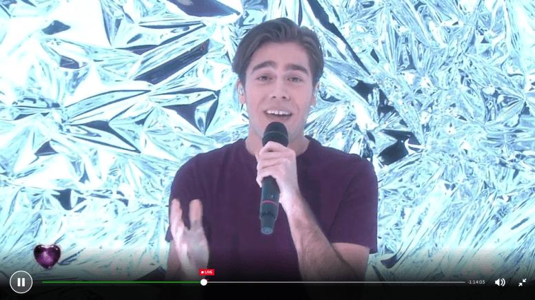 Benjamin Ingrosso at Melodifestivalen 2017