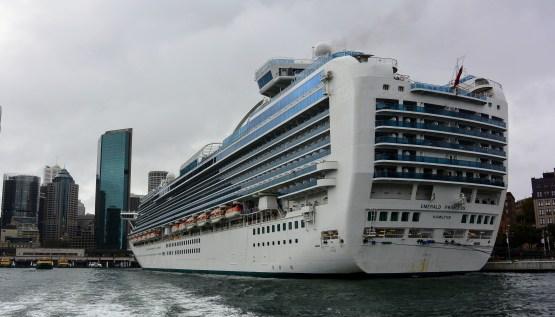 Cruise ship at Sydney's Circular Quay