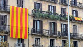 Catalan flag on Spanish National Day