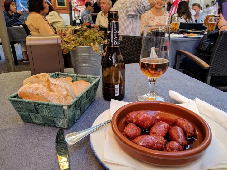 Chorizo at Chiquita Corner Bar in Madrid