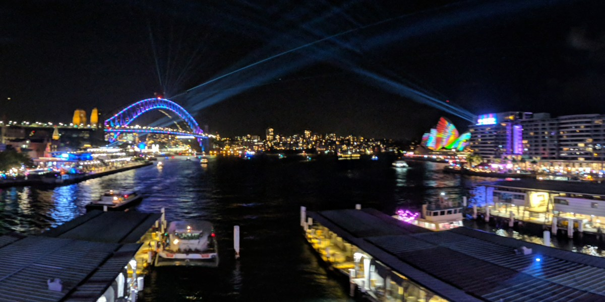 The higher view of Vivid in Sydney