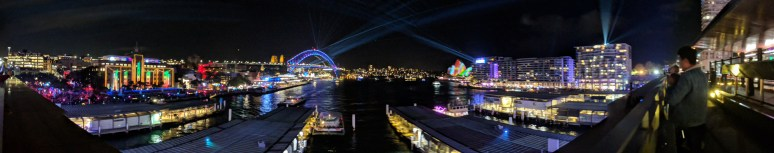 Cahill Expressway View of Sydney's Vivid Festival
