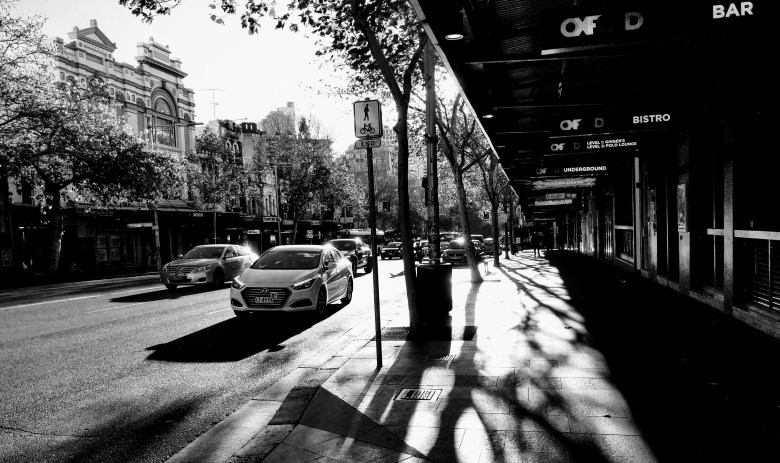 Shadows on Oxford Street, Darlinghurst