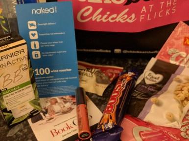 Chicks at the Flilcks goodies bag