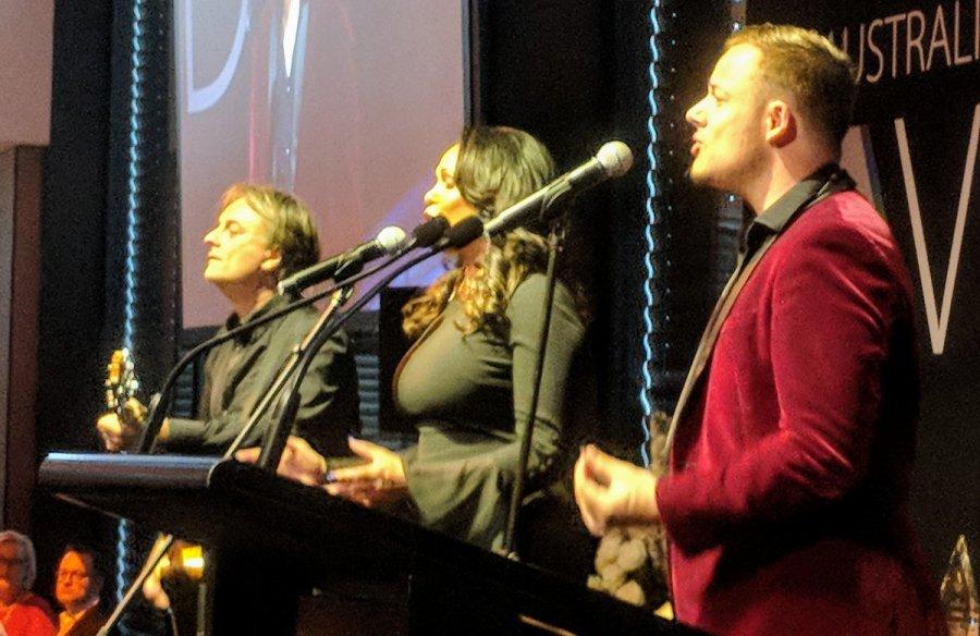 Christine Anu performing at the LGBTQI Awards