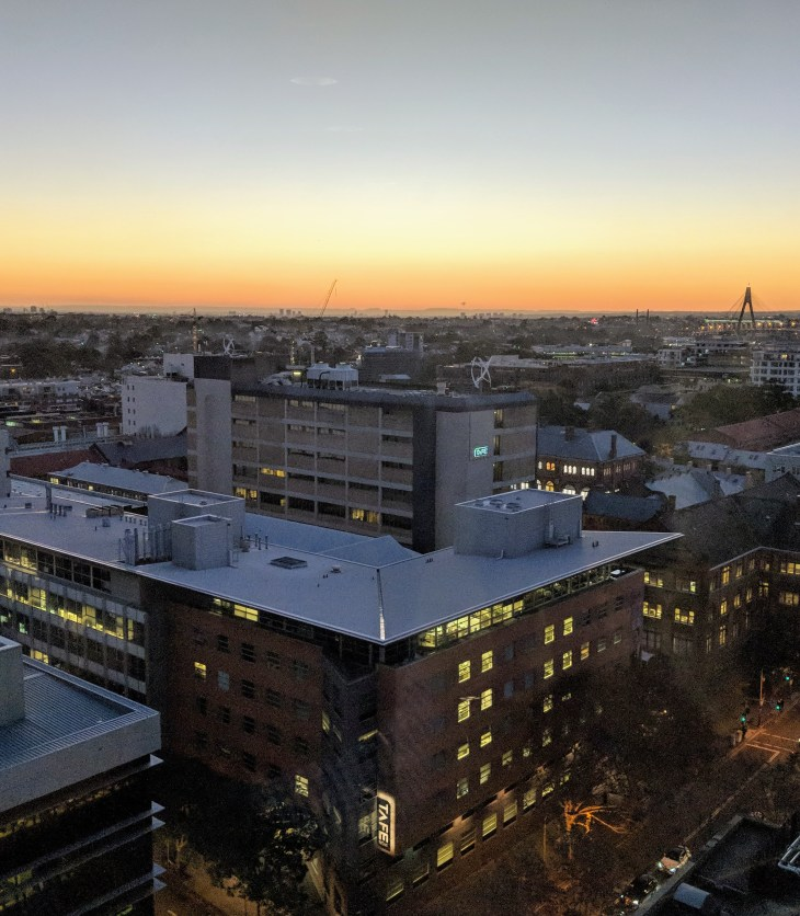 The view from the thirteenth floor of the ABC building in Ultimo, Sydney