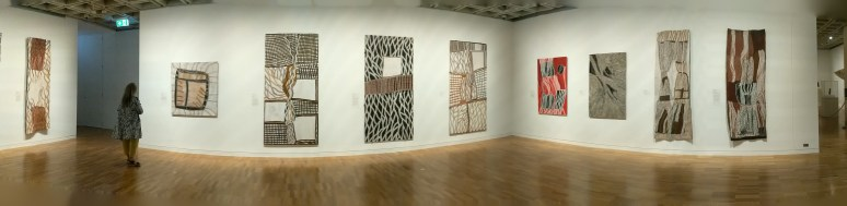 Some works by Nonggirrnga Marawil at AGNSW