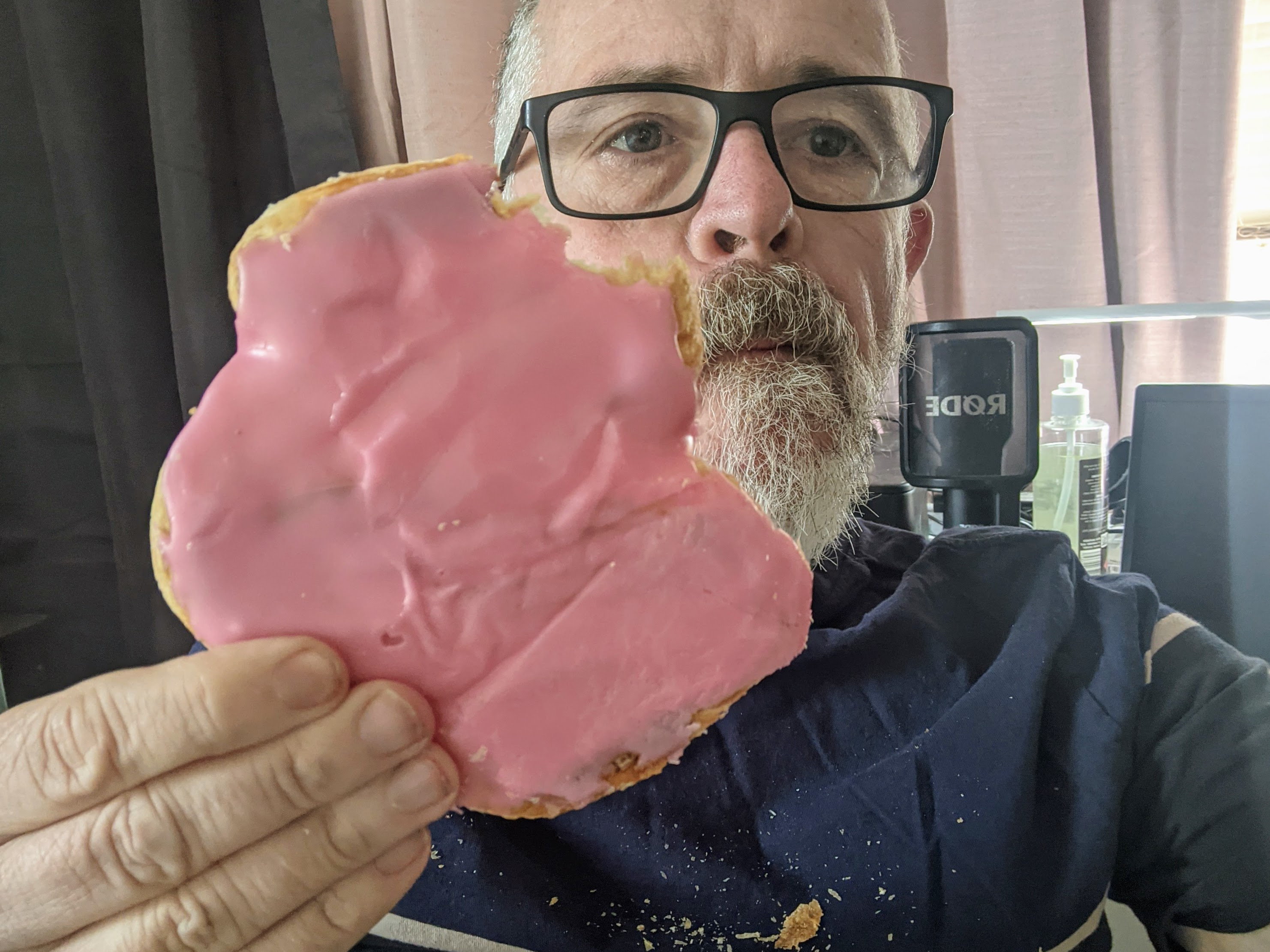 """Spotted one of these at the South Lismore Bakery. Though they're calling it a """"French Pastry"""" these days, I remember it as an """"Elephant's Ear"""". Can someone please give the coronary ward at Lismore Base Hospital a heads up?"""