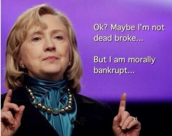 Morally bankrupt