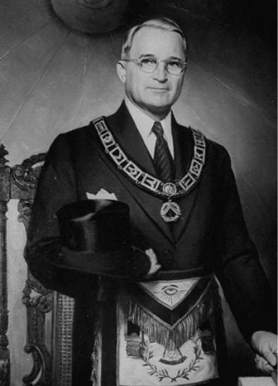 Truman Freemasonic garb