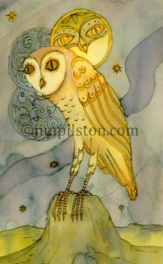 Celtic Wise Owl