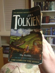 My beat up copy of The Hobbit