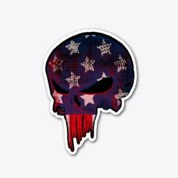 American Flag Punisher (Front / Bk) Standard T-Shirt Front