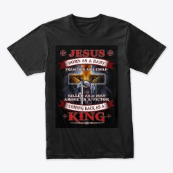 The Transformation Of Jesus Christ Black áo T-Shirt Front