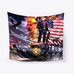 Victorious Trump Tank Gear Black T-Shirt Front
