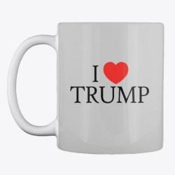 I Heart Trump Merchandise Light Grey T-Shirt Front