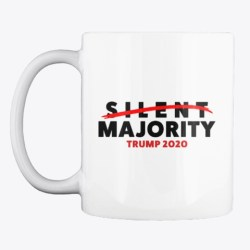 The Silent Majority No More White T-Shirt Front