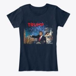 Donald Trump Makes A Splash! New Navy T-Shirt Front
