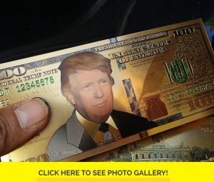 24K Gold Trump Bank Notes w/ Certificate of Authenticity
