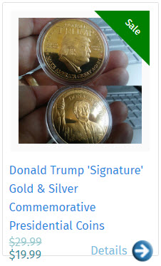 Donald Trump 'Signature' Gold & Silver Commemorative Presidential Coins