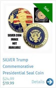SILVER Trump Commemorative Presidential Seal Coin