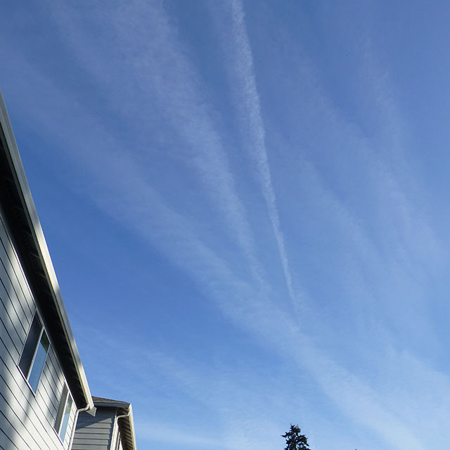 White Skies and Chem Trails over Lynnwood 11-17-2014