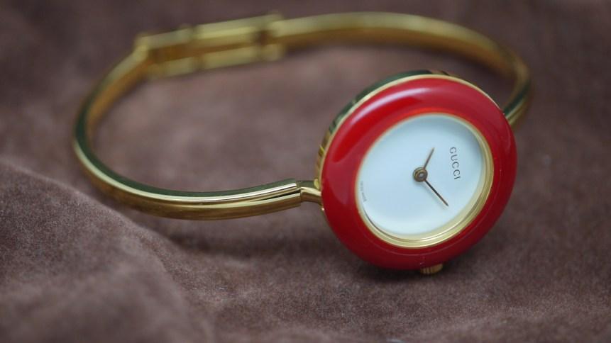 Ladies Gucci bracelet watch