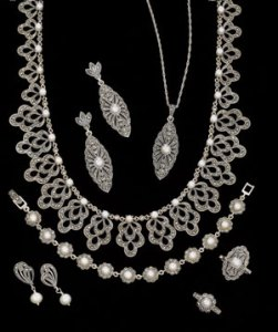 Luke Stockley marcasite pearls
