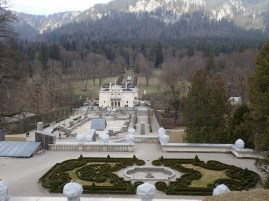 "Linderhof Palace and grounds. We were told to, ""picture this in a month when there are thousands of flowers in bloom!"""