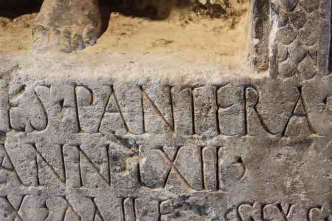 1st century Pantera tombstone discovered in Bingerbrücke, Germany on the Rhine