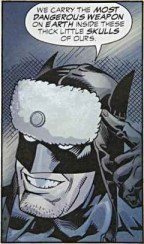 Superman: Red Son puts Batman in a bad-ass furry hat.