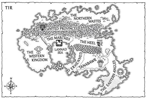 A map of Tir for the Fair Folk series